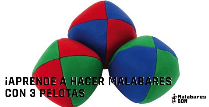 Aprende a hacer malabares con 3 pelotas