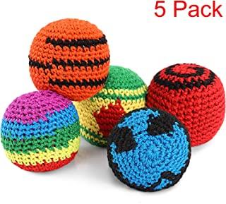 5 Piezas de Pelotas Tejidas de Multicolor Kickball Tejido Suave Bolas Hacky para Niños y Princip...