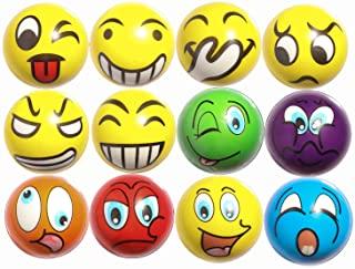 ZYDTRIP 12pcs Bolas Divertidas del Juego de Emoji, Pelota de Juguete Anti estrés, Juguete de la ...
