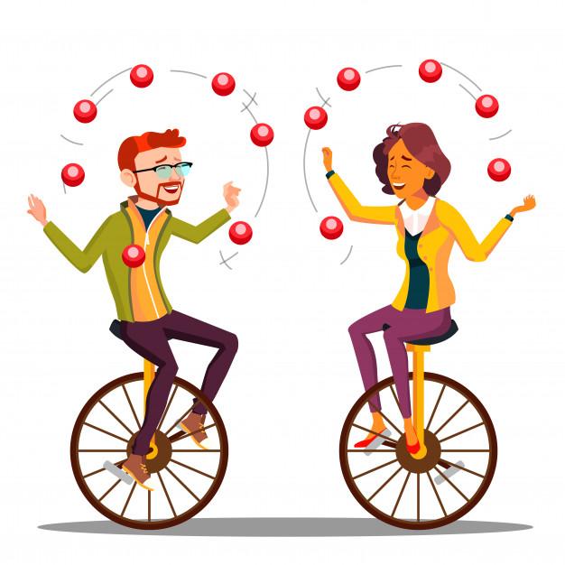 montar en monociclo